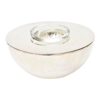 Calvin Klein for Swid Powell Silver-Plate Caviar Serving Bowl Barware For Sale