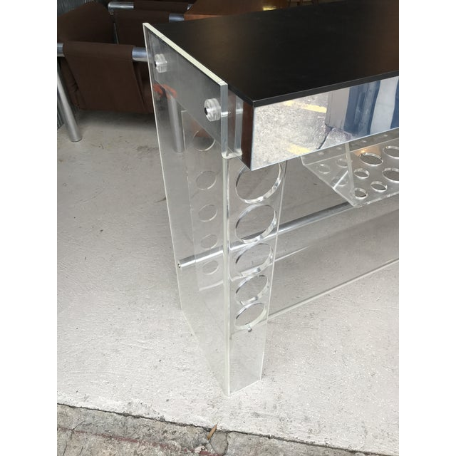 Mid-Century Modern Lucite Ghost Bar Hill Manufacturing For Sale - Image 3 of 10