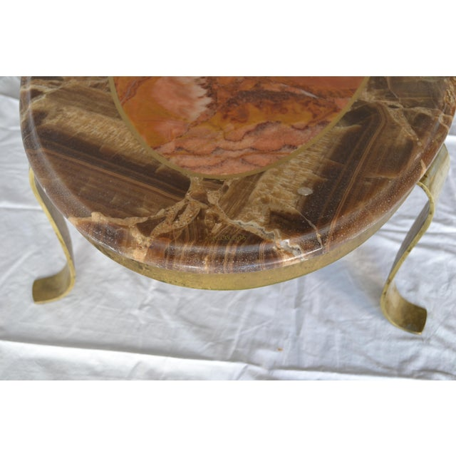 1970s Vintage Mueller Faux Marble Oval Table - Image 7 of 8