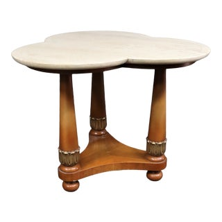 MCM Travertine Side Table For Sale