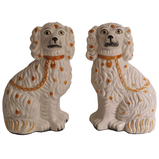 Staffordshire Dog Figurines - A Pair For Sale