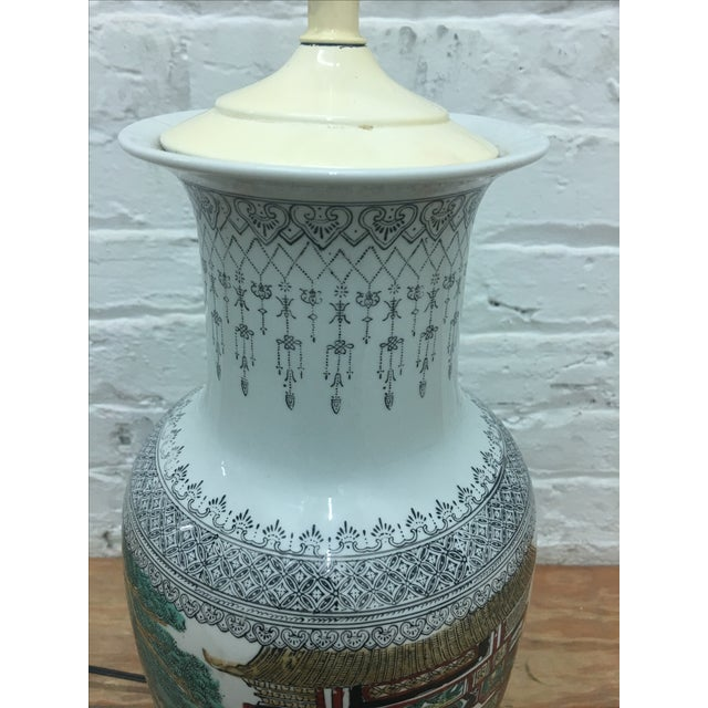 White Ornate Asian Motif Accent Lamp - Image 7 of 8