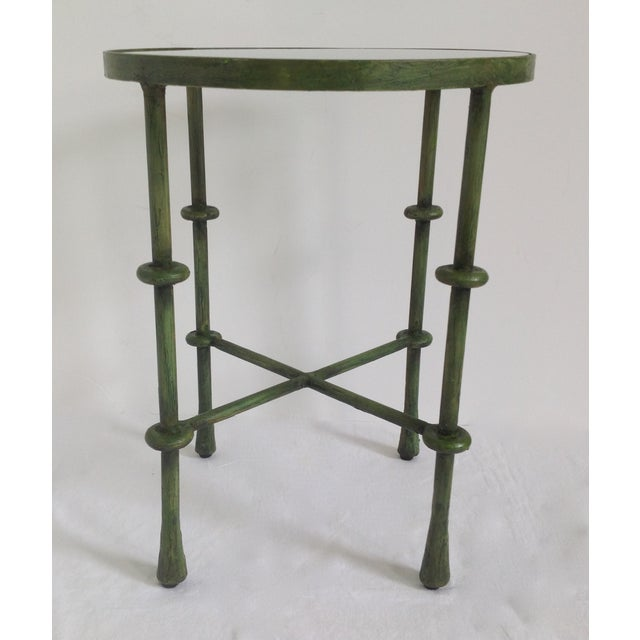 Giacometti-Style Forged Round End Table - Image 2 of 11