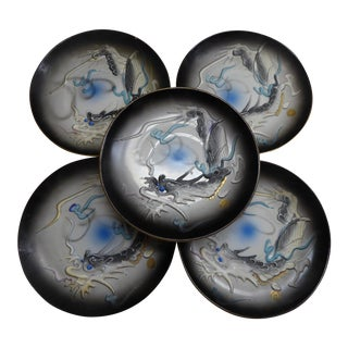 Moriagi Dragonware Dipping Dishes - Set of 5