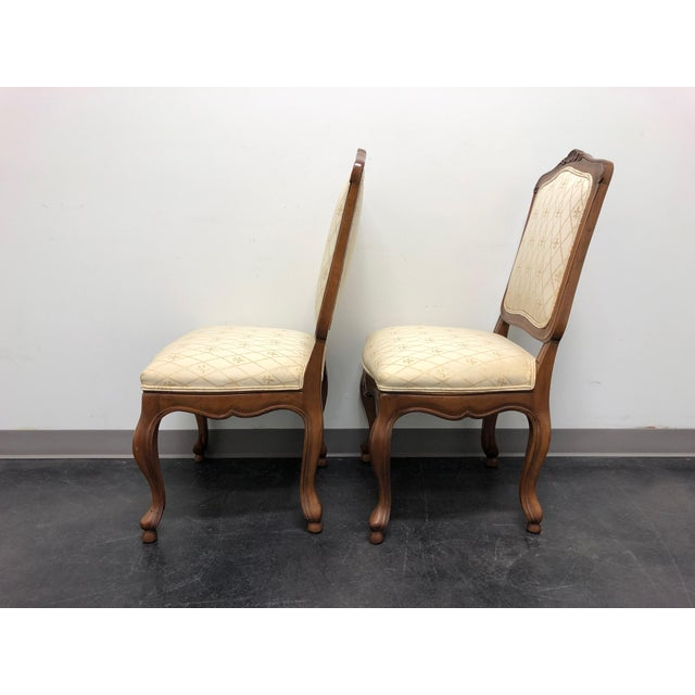 Wood Baker French Country Dining Side Chairs - Pair 1 For Sale - Image 7 of 12