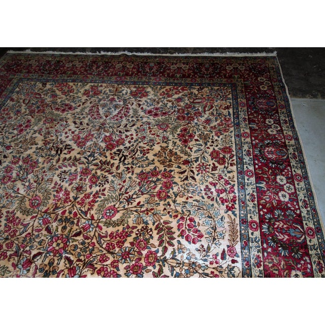 1900s, Handmade Antique Persian Kerman Lavar Rug 8.9' X 11.6' - 1b701 For Sale In New York - Image 6 of 13