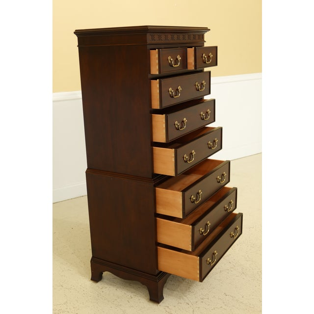 Century 8 Drawer Chippendale Style Mahogany Lingerie Chest For Sale In Philadelphia - Image 6 of 11