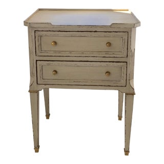 French Painted Side Table With Two Drawers For Sale