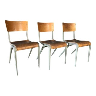 James Leonard for Esavian French Industrial Chairs - Set of 3
