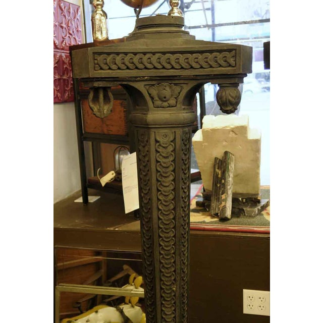 Mid 20th Century Cast Iron Exterior Claw Foot Lamp Posts - a Pair For Sale - Image 5 of 12