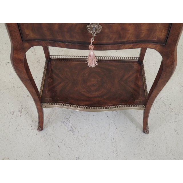 Theodore Alexander French Louis XV Mahogany Nightstand For Sale In Philadelphia - Image 6 of 13