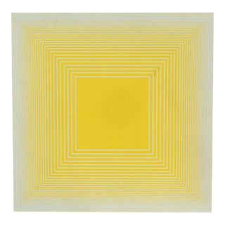 "Richard Anuszkiewicz, ""Yellow on Blue Square"" From Volumes For Sale"