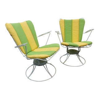 Homecrest Mid Century Modern Iron Swivel Chairs For Sale