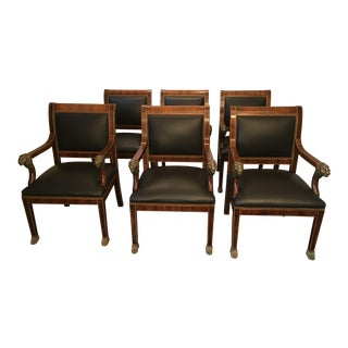 Regal Rosewood Dining Chairs - Set of 6 For Sale