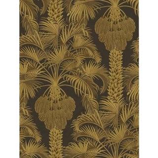 Cole & Son Hollywood Palm Wallpaper Roll - Charcoal & Gold For Sale