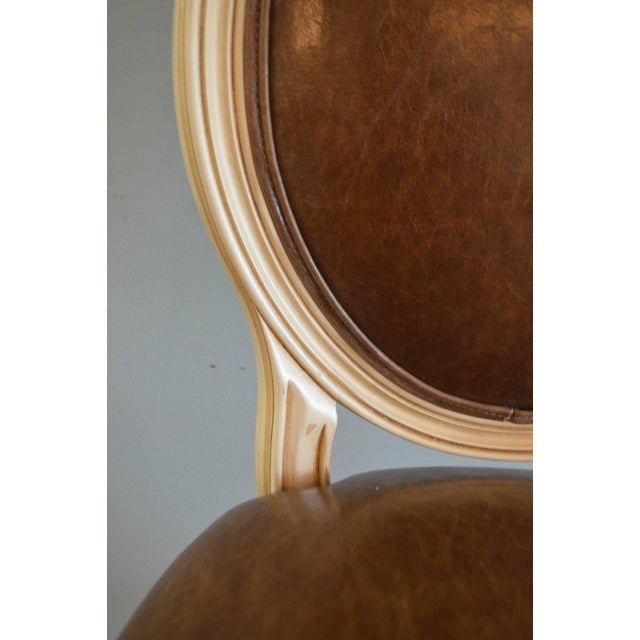 Louis XVI Style Painted Oval Back Bar Stool for Custom Order For Sale In Buffalo - Image 6 of 9