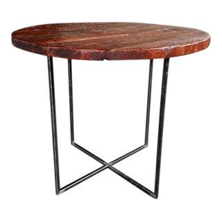 Custom Reclaimed Wood & Metal Kitchen Table