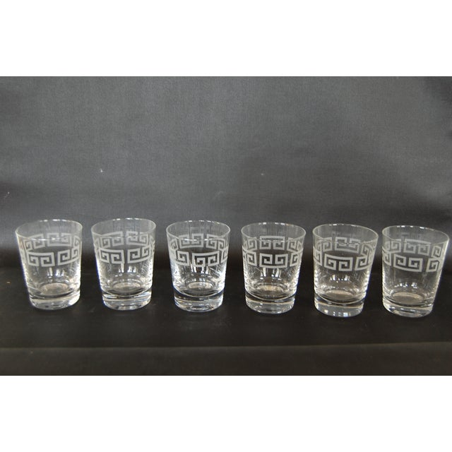 Mid Century Greek Key Cocktail Glasses - Set of 6 - Image 2 of 6