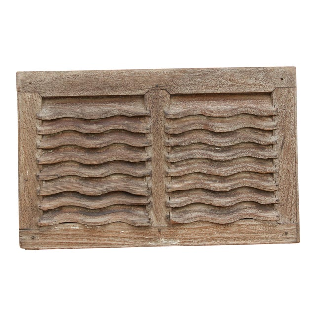 19th Century Rustic Primitive Window Shutter For Sale