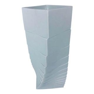 Rosenthal Studio-Linie Matte White Porcelain Vase by Christa Hausler-Goltz For Sale
