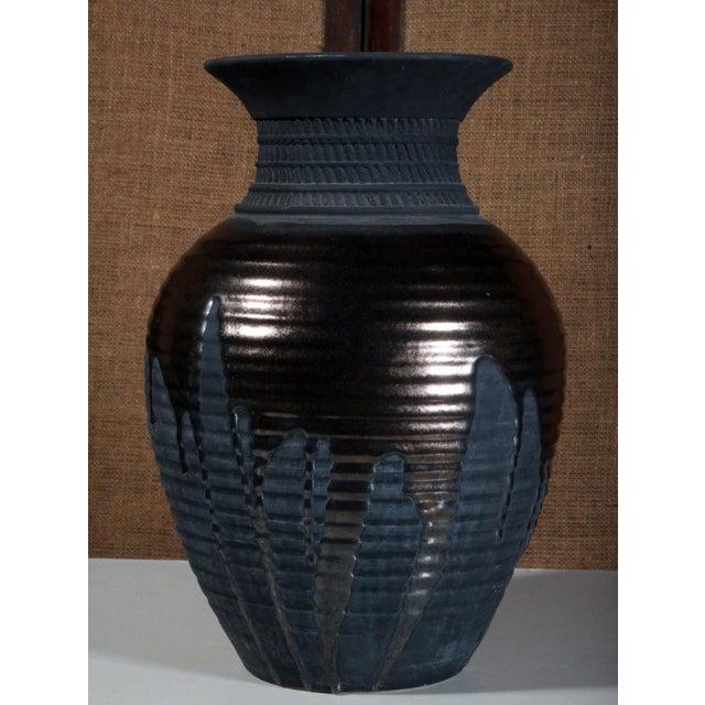 Large Sebastiano Maglio Haeger Black Pottery Vase - Image 4 of 7