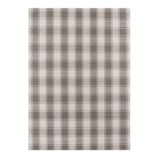 "Erin Gates by Momeni Marlborough Charles Grey Hand Woven Wool Area Rug - 3'6"" X 5'6"" For Sale"