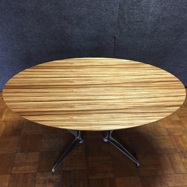 Crate & Barrel Modern Round Dining Table - Image 8 of 10