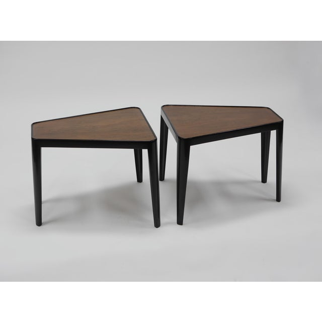 1950s Pair of Wedge Tables by Edward Wormley for Dunbar For Sale - Image 5 of 10