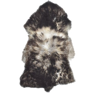 "Handmade Long Soft Hair Sheepskin Pel - 2'1"" x 3'6"""