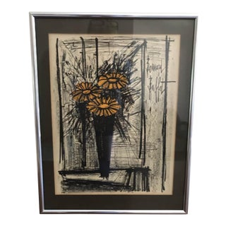 1968 Bernard Buffet Framed Lithograph For Sale