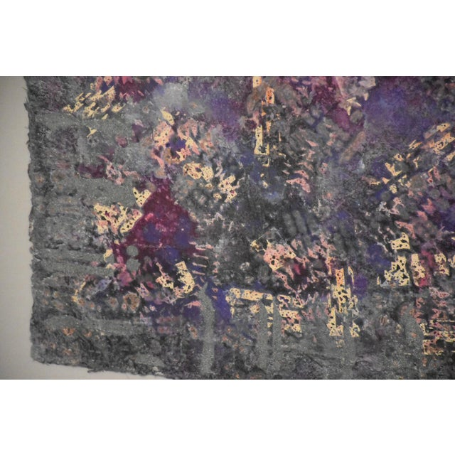 Purple Abstract Modern Art For Sale - Image 4 of 10