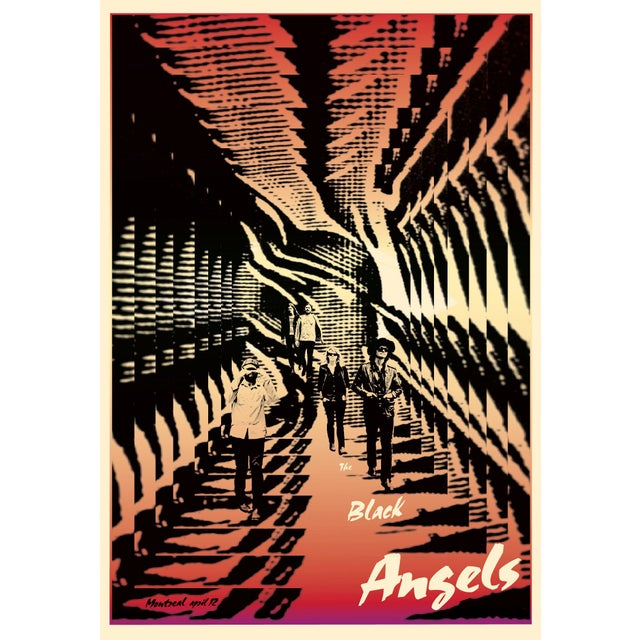 Contemporary 2011 Contemporary Music Poster - Black Angels For Sale - Image 3 of 3