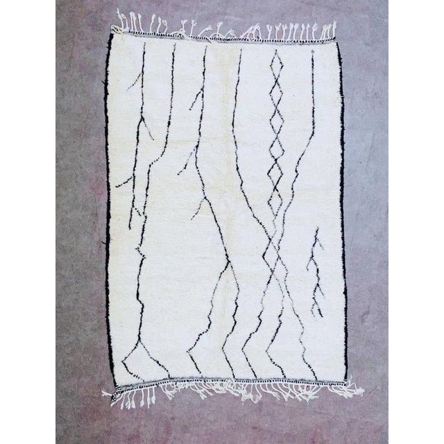 Alabaster Authentic Berber Morocco Rug - 5′7″ × 8′ For Sale - Image 8 of 8