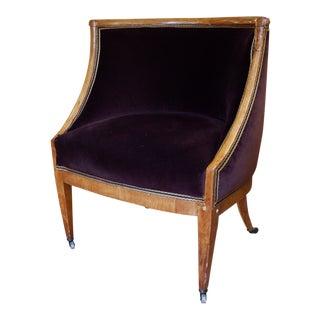 Biedermeier Style Bergere Chair For Sale