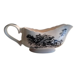 Tabletop Unlimited New England Toile Black Game Birds Gravy Boat For Sale