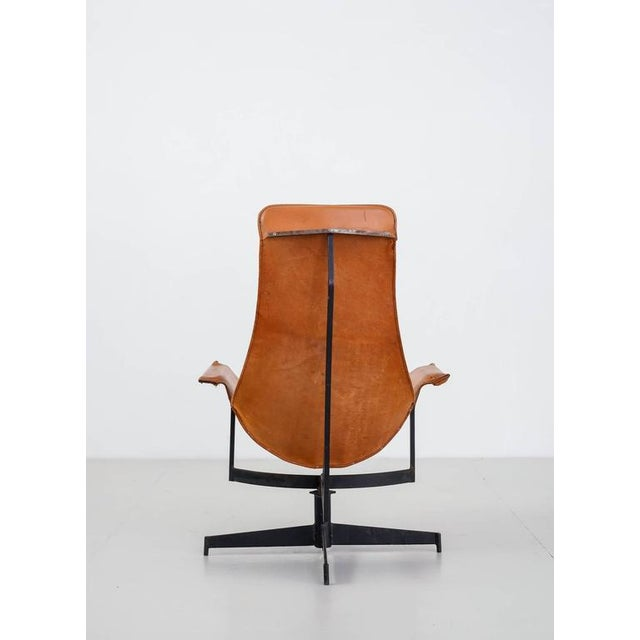 William Katavolos Swiveling Brown Leather Sling Chair, USA, 1950s - Image 5 of 10