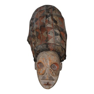 Authentic African Witch Doctors Mask C.1940s For Sale