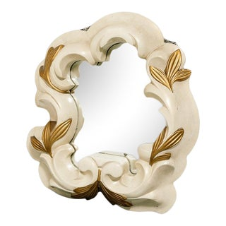 French Plaster Mirror in the Manner of Serge Roche For Sale