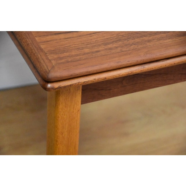 Brown Mid-Century Danish Teak Draw Leaf Dining Table For Sale - Image 8 of 11