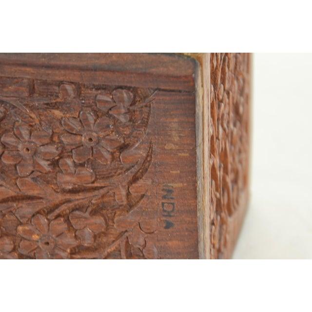 Bone Carved Wood & Bone Letter Holder For Sale - Image 7 of 9