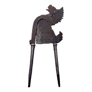 Indonesian Garuda Figure Iron Betel Nutcracker For Sale