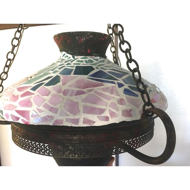 Vintage 1940s Mosaic Ceiling Lamp - Image 9 of 10