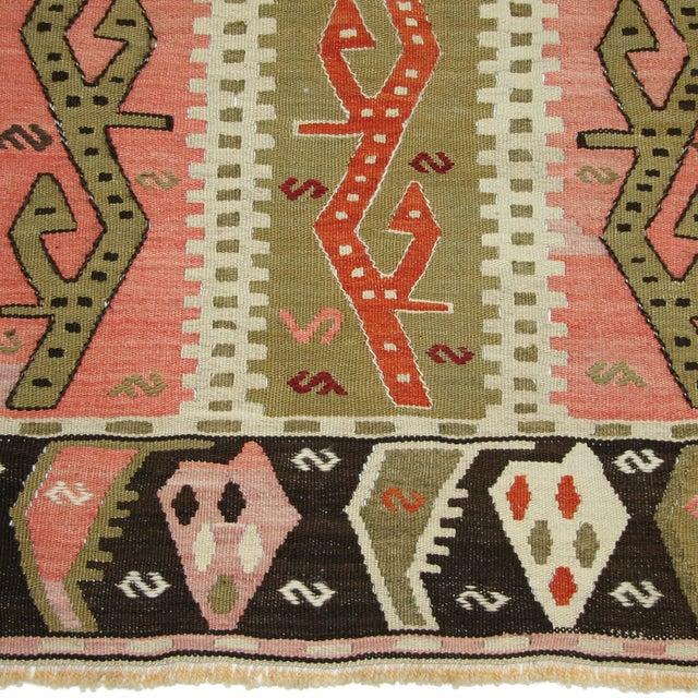 Vintage Turkish Kilim Flatweave Rug - 4'3 X 6' - Image 3 of 4