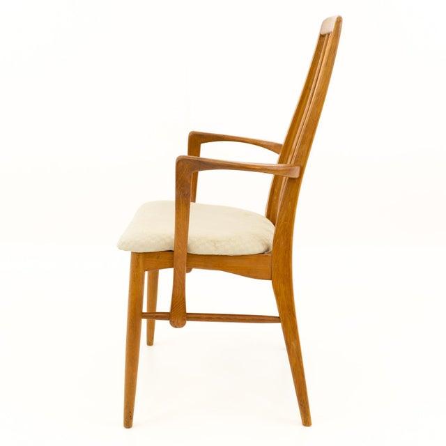 Vintage Mid Century Niels Koefoed Hornslet Danish Teak Eva Dining Chairs - Set of 6 For Sale In Chicago - Image 6 of 13
