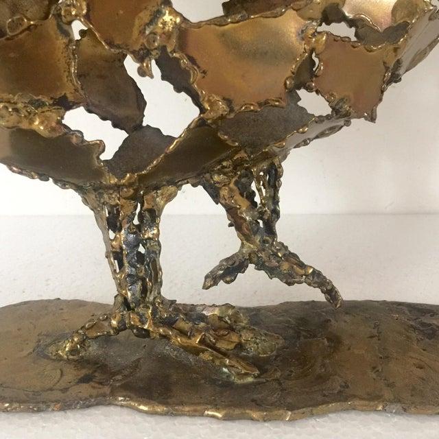 Silas Seandel Brutalist Brass Sculpture - Image 4 of 8