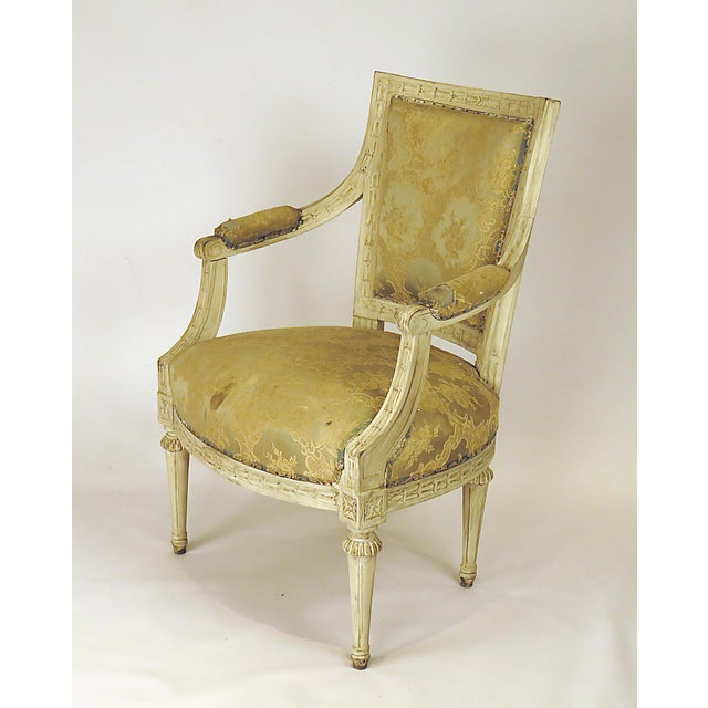 Wood 1900s Swedish Painted Armchairs - a Pair For Sale - Image 7 of 7