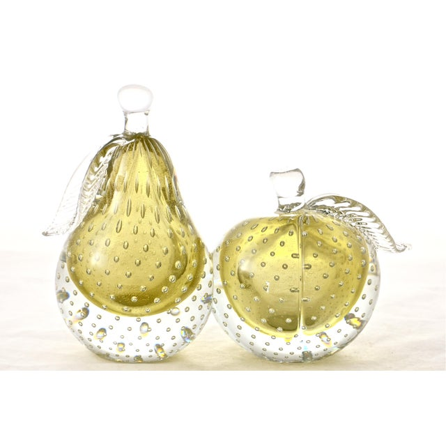 Gold Murano Apple & Pear Bookends - A Pair - Image 2 of 7