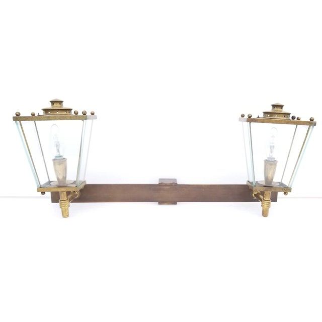 French Large French Bronze 2 Lights Sconce Circa 1950's For Sale - Image 3 of 9