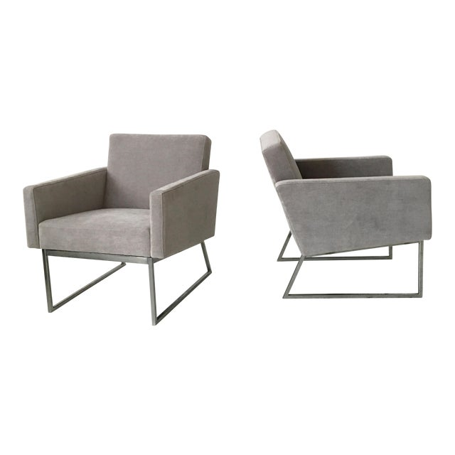 Milo Baughman Lounge Chairs- A Pair - Image 1 of 10