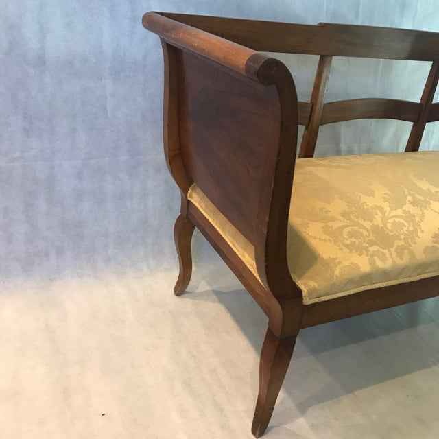 French 1940s Vintage French Walnut Sofa Loveseat For Sale - Image 3 of 6